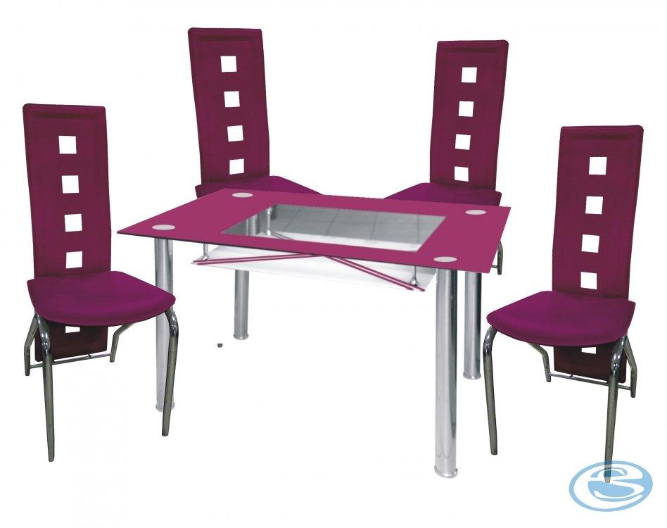 Jídelní sestava Montreal fialová 1+4 - FALCO