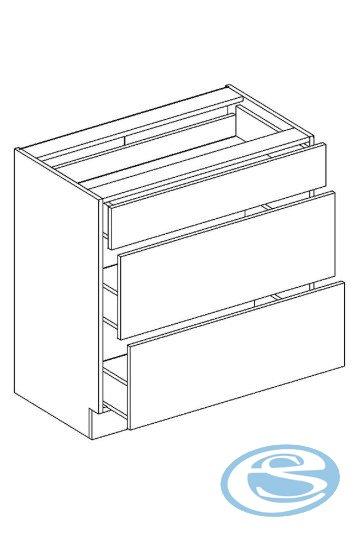 Alina dolní kuchyňská skříňka D80S/3 - STOLKAR