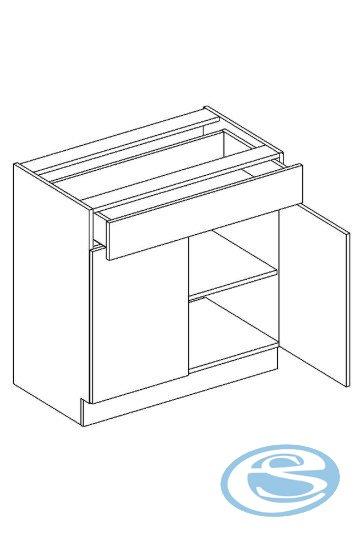 Alina dolní kuchyňská skříňka D80S/1 - STOLKAR