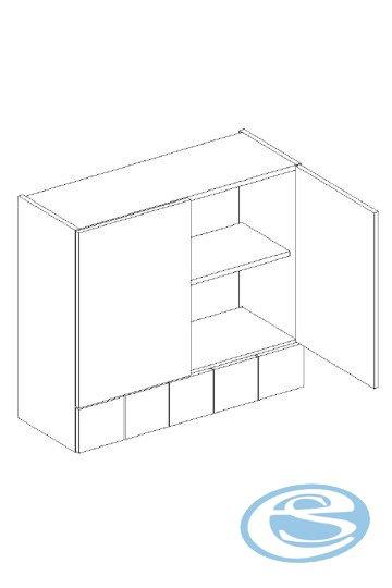 Alina horní kuchyňská skříňka W80S/5 - STOLKAR