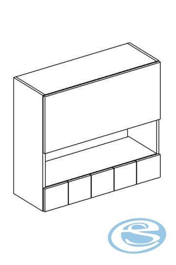 Alina horní kuchyňská skříňka W80GRS/5 - STOLKAR