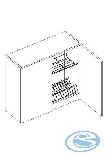 Alina horní kuchyňská skříňka W80SU - STOLKAR