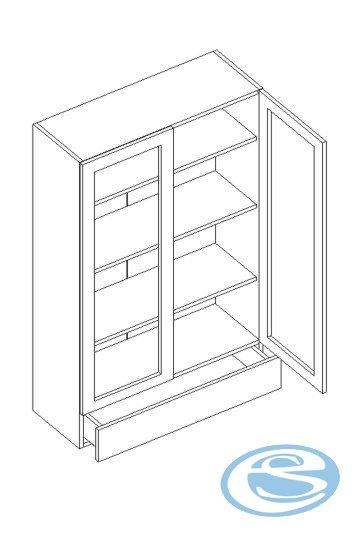 Alina horní kuchyňská skříňka W80W125 - STOLKAR