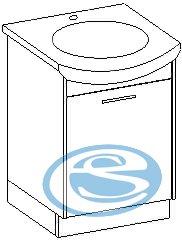 Skříňka pod umyvadlo Nancy - EXTOM
