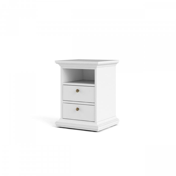 Noční stolek Paris 70302 bílý - TVI