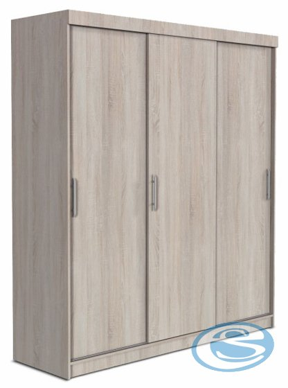 Skříň Goliat s posuvnými dveřmi dub santana světlý - FALCO