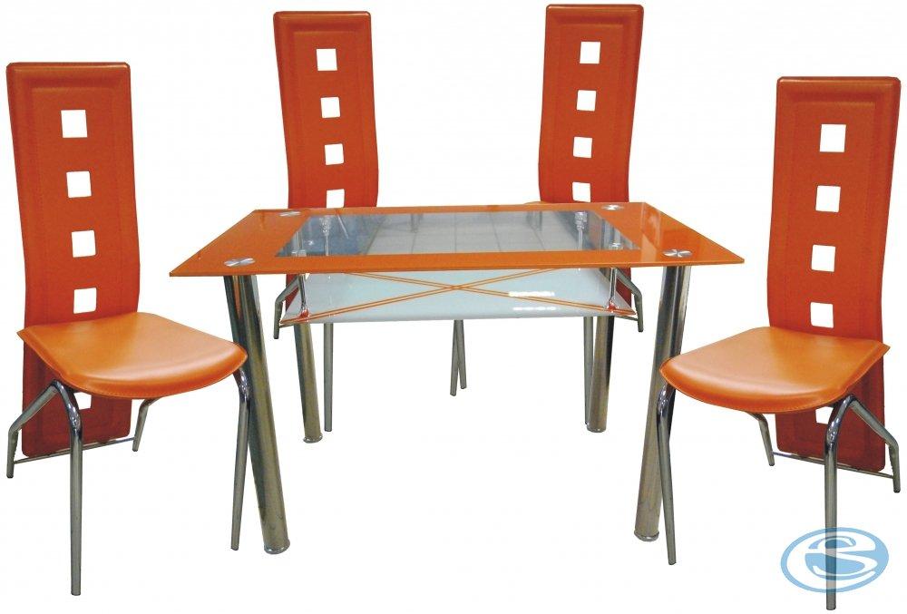 Jídelní sestava Montreal oranžová 1+4 - FALCO