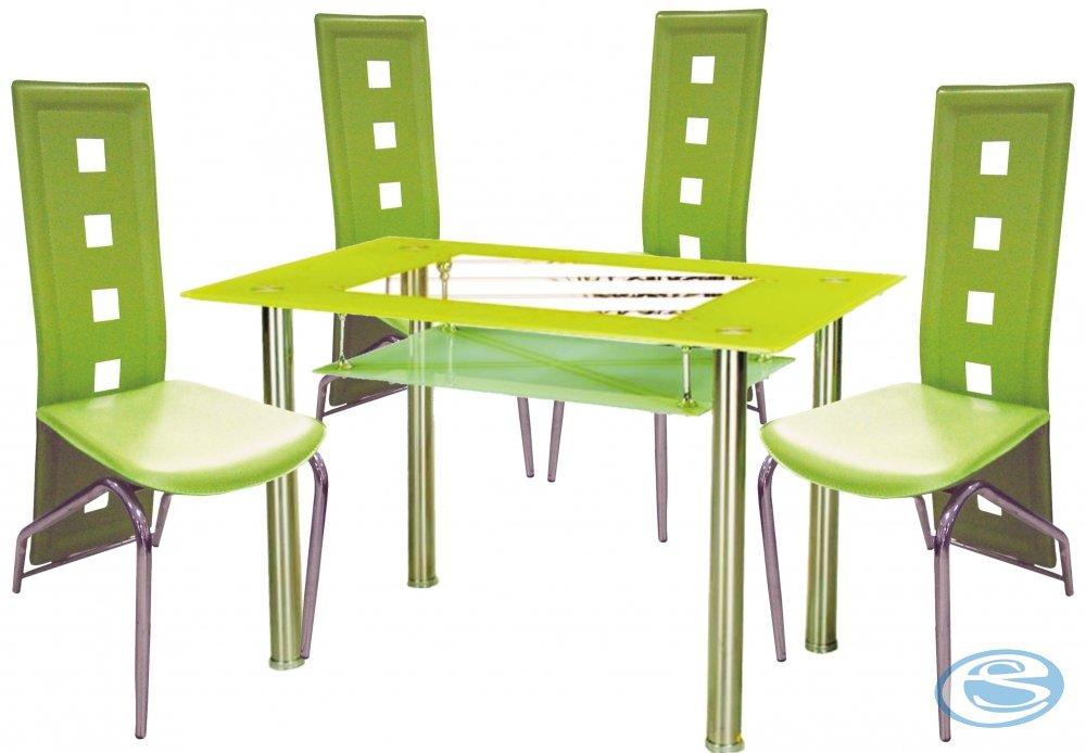 Jídelní sestava Montreal zelená 1+4 - FALCO