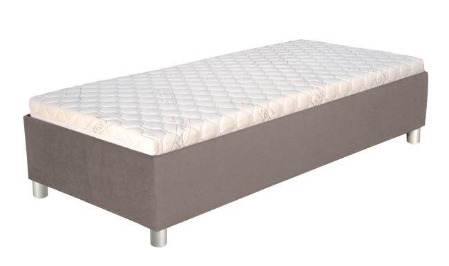 Čalouněná polohovací postel Neptun s matrací 90x200-hnědá - BLANAŘ