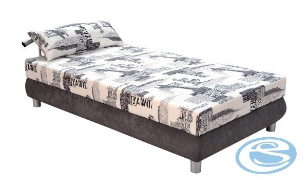 Čalouněná postel Nina 140x200-šedá - BLANAŘ
