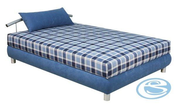 Čalouněná postel Nina 140x200-modrá - BLANAŘ