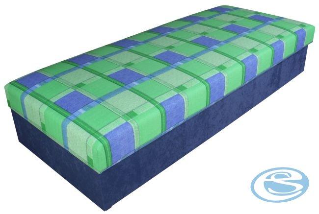 Čalouněná postel Rio 80x200 zelená - BLANAŘ