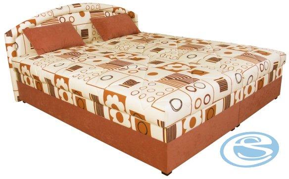 Čalouněná postel Karolína 160x200-PUR/Mollino 660-14 - BLANAŘ