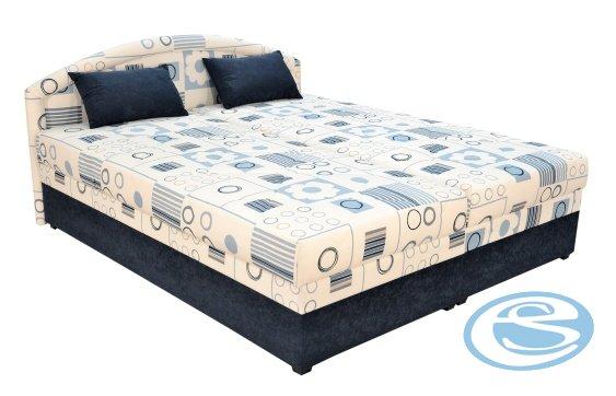 Čalouněná postel Karolína 160x200-PUR/Mollino 660-16 - BLANAŘ