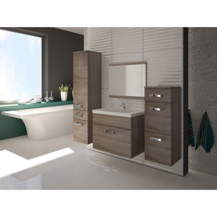 Koupelnový nábytek Evo wenge/bílý lesk - FALCO