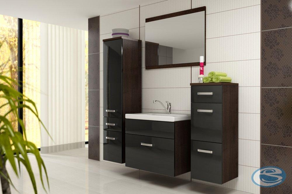 Koupelnový nábytek Evo wenge/černý lesk - FALCO