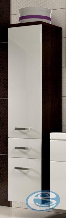 Koupelnová skříňka Evo vysoká wenge/bílý lesk - FALCO
