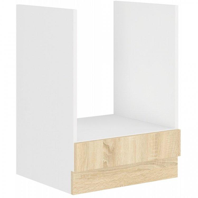 Sára skříňka na vestavnou troubu 60DG bílá/dub sonoma - FALCO