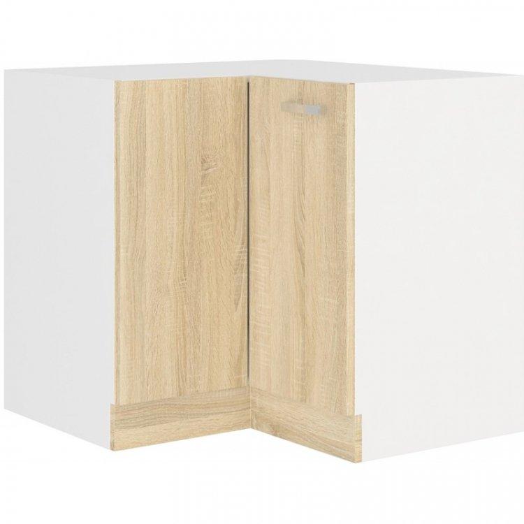 Sára dolní rohová skříňka 90DN bílá/dub sonoma - FALCO