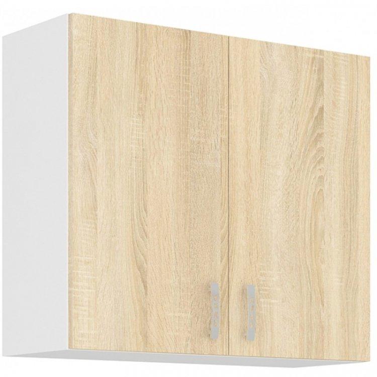 Sára horní skříňka 80G bílá/dub sonoma - FALCO
