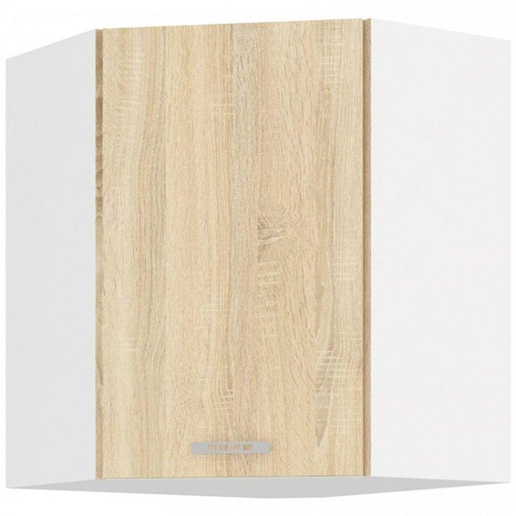 Sára horní rohová skříňka 60/60 bílá/dub sonoma - FALCO