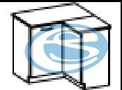 Limed dolní rohová skříňka 90DN - FALCO