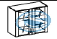 Kora horní prosklená skříňka 80GS - FALCO