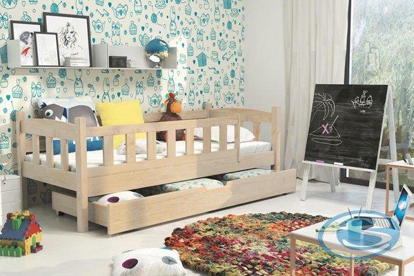 Dětská postel Grzeš 160x80 přírodní borovice - BMS