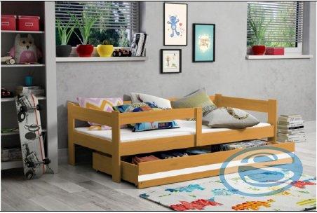 Dětská dřevěná postel Hugo - BMS