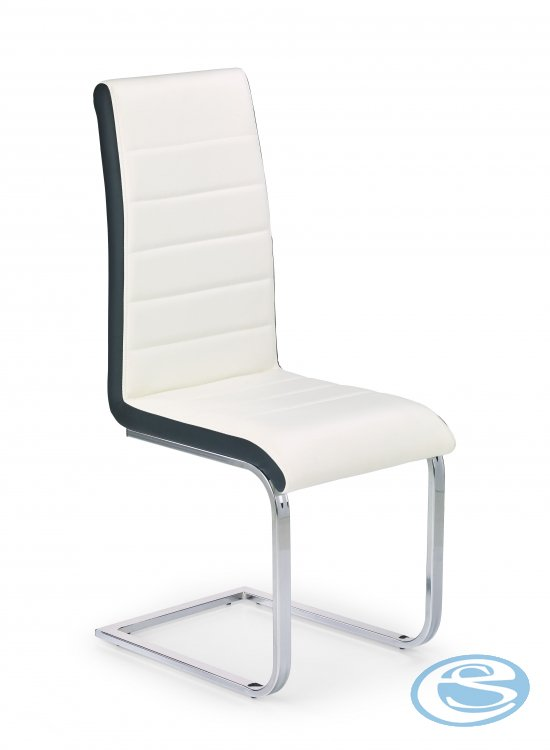 Jídelní židle K132 bíločerná - HALMAR