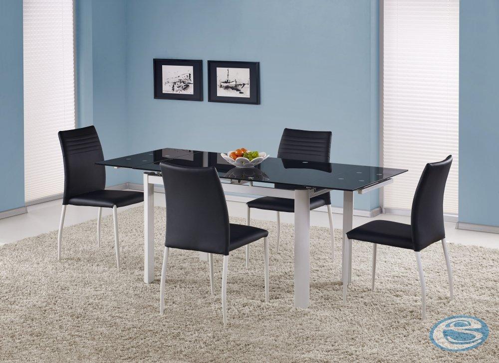 Rozkládací jídelní stůl Alston černý - HALMAR