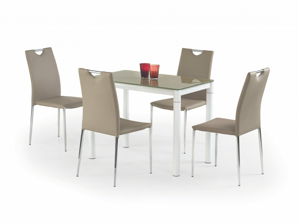 Jídelní stůl Argus béžovobílý - HALMAR