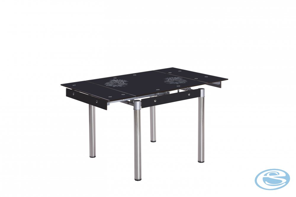 Rozkládací jídelní stůl Kent černý - HALMAR