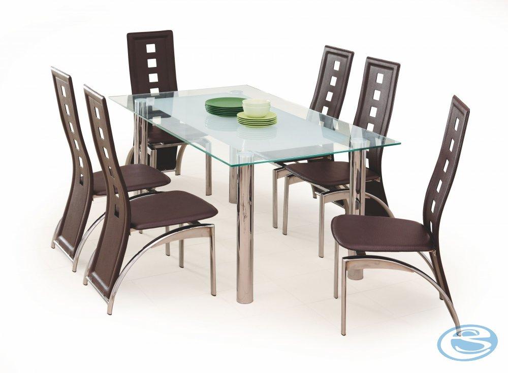 Skleněný jídelní stůl Bond - HALMAR