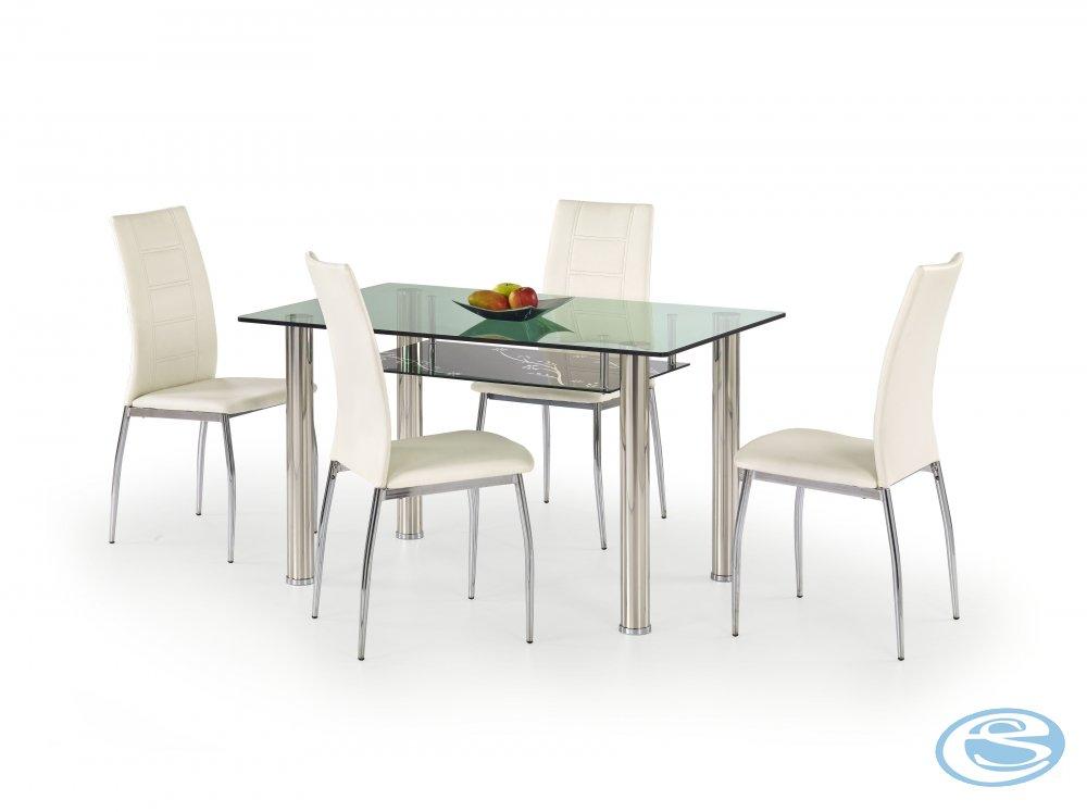 Skleněný jídelní stůl Lenart - HALMAR