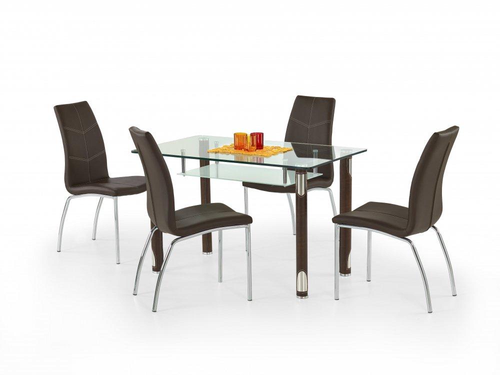 Skleněný jídelní stůl Gotard černý - HALMAR