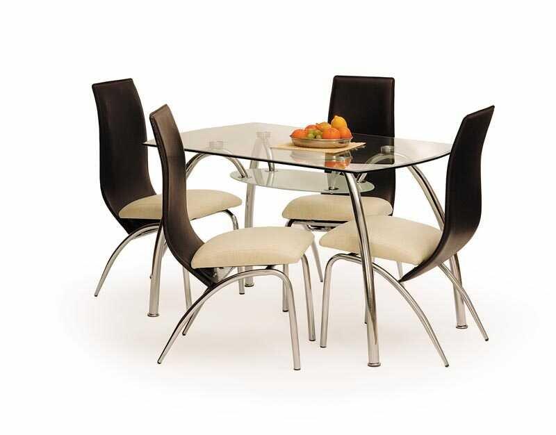 Skleněný jídelní stůl Corwin Bis - HALMAR