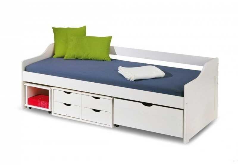 Dětská postel Floro bílá - HALMAR