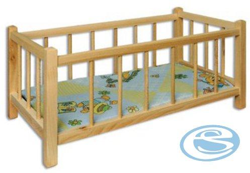 Dřevěná postýlka pro panenky AD265 - Drewmax