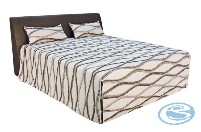 Čalouněná postel MERKUR BROWN (s matrací Ivana Plus) 180x200 - BLANAŘ
