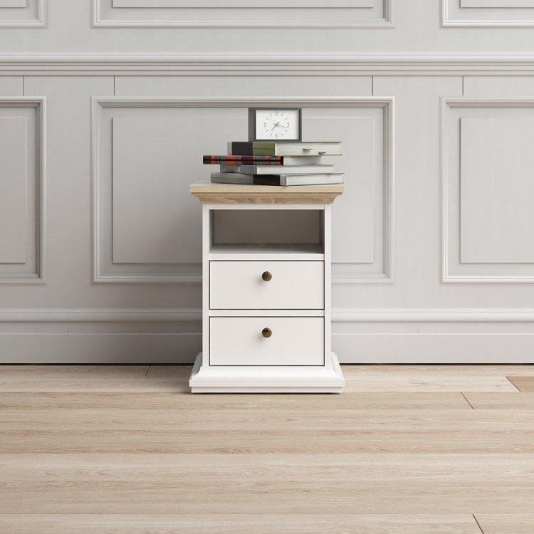 Noční stolek Paris 70302 bílý/dub - TVI