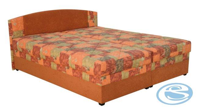 Čalouněná postel Kappa (s matrací Alena) 160x200 - BLANAŘ