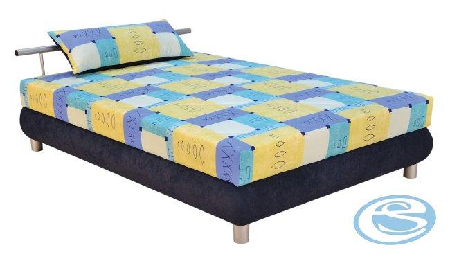 Čalouněná postel Adriana (s matrací Alena) 140x200 - BLANAŘ