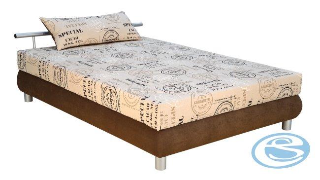 Čalouněná postel Adriana 3 (s matrací Alena) 140x200 - BLANAŘ