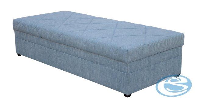 Čalouněná postel Centrum 4 (s matrací Alena) 90x200 - BLANAŘ