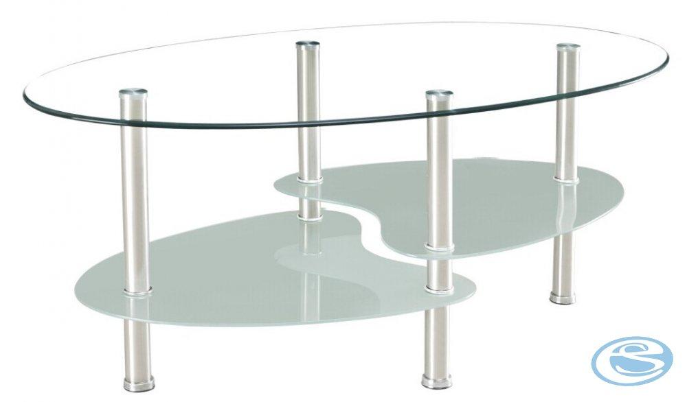 Konferenční stolek 301 chrom/sklo - FALCO