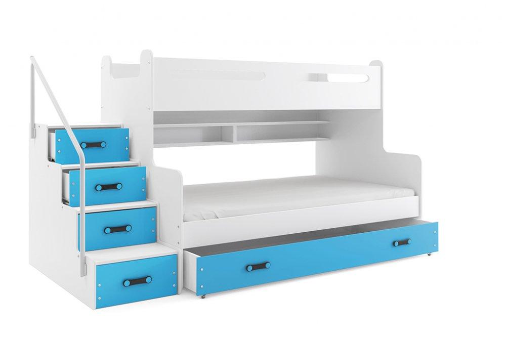 Patrová postel Max 3 pro 3 děti - BMS