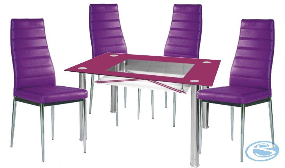 Jídelní sestava New York 1+4 fialová - FALCO