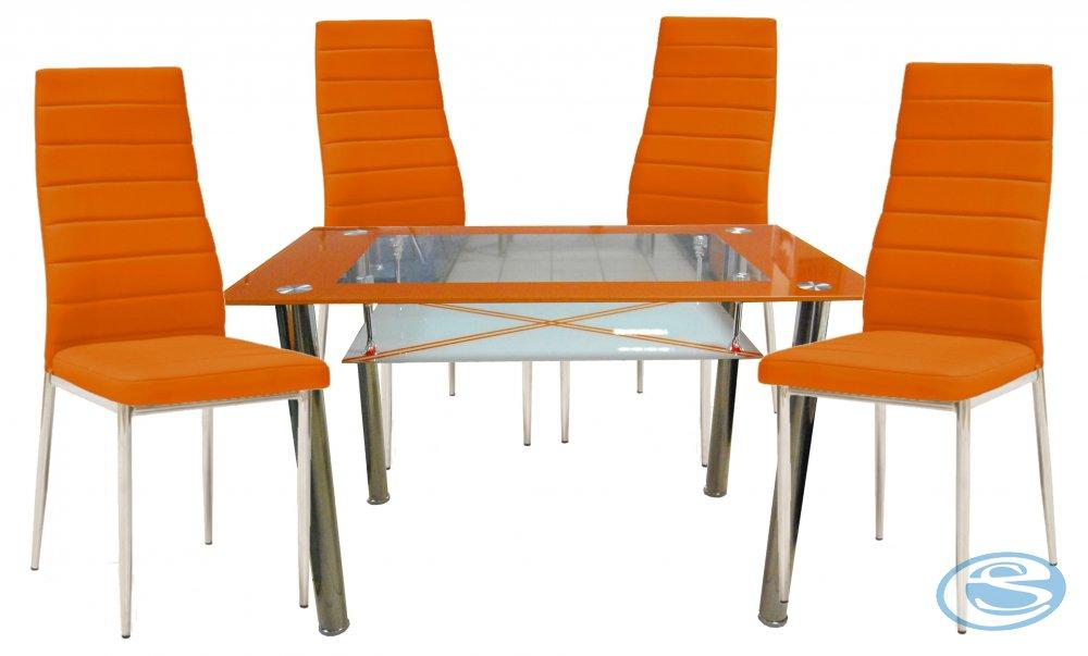 Jídelní sestava New York 1+4 oranžová - FALCO