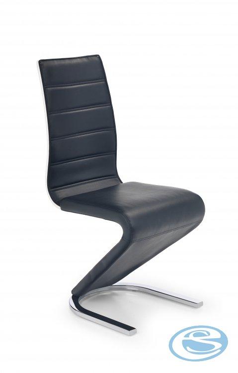 Jídelní židle K194 černobílá - HALMAR